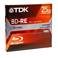 TDK Blu - ray 25 GB書き換え可能録音ディスク( bdre25 a ) ( Discontinued by Manufacturer )