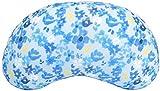 ダイカイ ソメル 豆型クッション 花ブルー W45×H25cm 73104