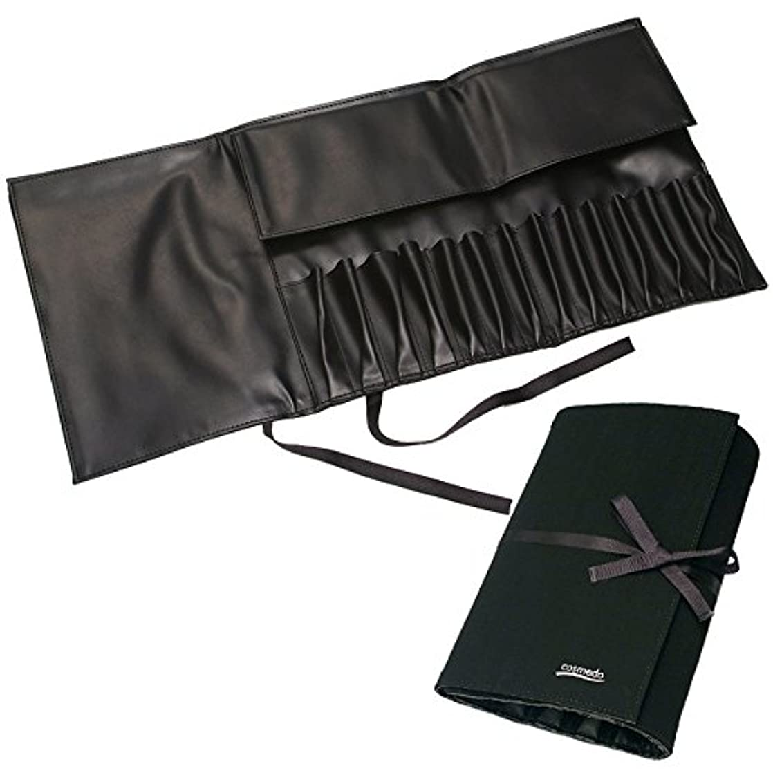 二層実証する関与する匠の化粧筆コスメ堂 レギュラータイプ用メイクブラシ収納ケース大(14本収納)スウェードタイプ