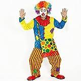ピエロ 衣装 目立つぜ お得フルセット (服 パンツ バッグ マスク ウィッグ) スーツ 仮装 コスプレ コスチューム 道化師 ジョーカー ハロウィン halloween 男女共用 168から185cm
