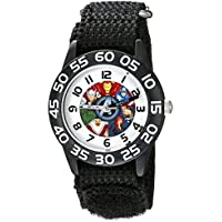 Marvel Kids' W002624 Avengers Time Teacher Analog Display Analog Quartz Black Watch