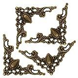 装飾金具 透かし模様 コーナー用 (4個入) 金古美