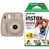 FUJIFILM インスタントカメラ チェキ instax mini8プラス ココア + フィルムセット