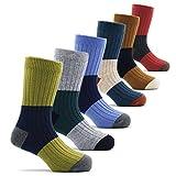 ボーイズ 靴下 子供 キッズ 厚い 暖かい 冬用 防寒 靴下 男の子 ウールソックス 6足セット