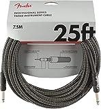Fender シールドケーブル Professional Series Instrument Cable, 25', Gray Tweed