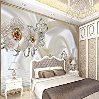 壁紙 壁紙カスタムリビングルームの寝室のジュエリーシルク水柄の花3D壁画テレビの背景壁の家の装飾 ldlbz (色 : 300cm X 200cm)