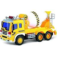 摩擦おもちゃコンクリートミキサー車ライト&サウンド付きTG640-C – プッシュ&ゴー摩擦男女子供3歳以上トラックおもちゃ By ThinkGizmos (商標保護)
