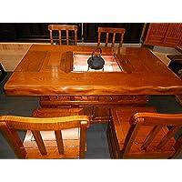 欅(ケヤキ)天然無垢材 囲炉裏テーブル ダイニングセット 幅150cm 漆塗り仕上
