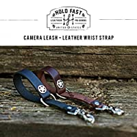 HOLD FAST/ホールドファスト CAMERA LEASH-LEATHER WRIST STRAP 本革リストストラップ おしゃれファッションカメラストラップ (BLACK)