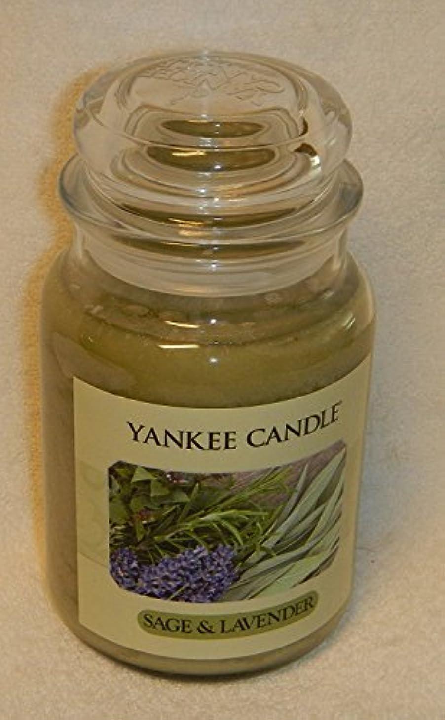 ボット閉塞宇宙セージ&ラベンダーYankee Candle Large 22-oz Jar