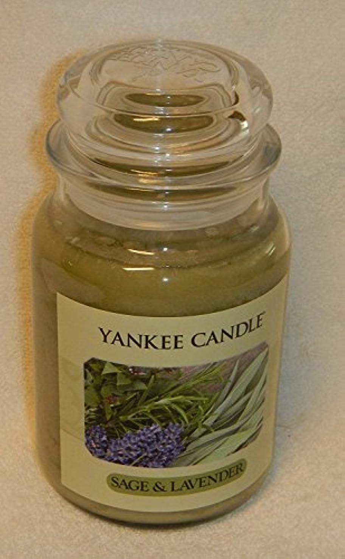 許容できる蒸発するスタックセージ&ラベンダーYankee Candle Large 22-oz Jar