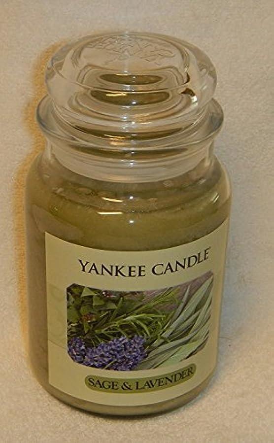 掘るひねくれた繊毛セージ&ラベンダーYankee Candle Large 22-oz Jar