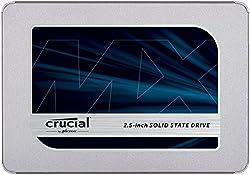 Crucial SSD 500GB MX500 内蔵2.5インチ 7mm (9.5mmアダプター
