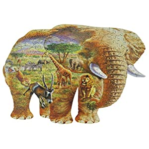 WENTWORTH WOODEN PUZZLES 木製ジグソーパズル ELEPHANT SAVANNA 250SERIES