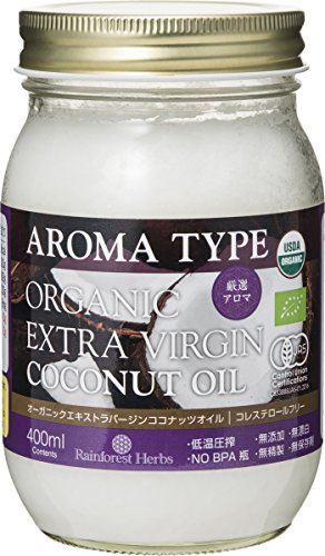 JASオーガニック認定 有機エキストラバージンココナッツオイル アロマタイプ400ml 365g Extra Virgin Coconut Oil AROMA TYPE