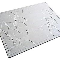 【日本製】珪藻土バスマット フォリアージ柄 (57.5cm×42.5cm) 特許取得済み
