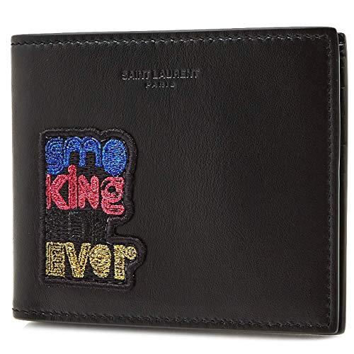 [サンローラン] [SAINT LAURENT] メンズ スモーキング フォーエバー レザー 二つ折り財布 折りたたみ財布 ブラック [並行輸入品]