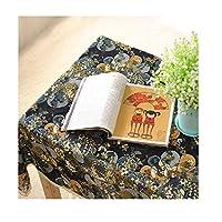 テーブルクロス イージーケア シンプル 地中海の生地のテーブルクロス大きな花のレースのテーブルクロスアメリカのテーブルクロス綿のリネンテーブルクロス 卓上装飾 (Color : B, Size : 55.1*70.9in)