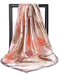 女の子のためのプリントシルクスカーフショールスカーフ小さなスクエアスカーフヒジャーブスカーフ