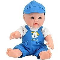 Tusalmo おもちゃ人形 12 インチ子供のおもちゃ、ビニール体赤ちゃん人形専門のおもちゃドール メーカーからの女の子のため (ブルー)