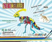 Parasaurolophus 3dパズルジグソーパズル子供、大人用、子供DIYモデルペイントおもちゃ、子供のギフト、Brain Teaser木製パズル。