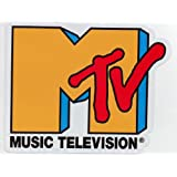 ステッカー MTVロゴ黄色 防水紙シール~楽器・タブレットPC・ボードなどに