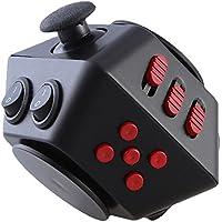 Fidget Dice 10 Sidesノベルティおもちゃ、マジックキューブfor fidgeters、Relieves不安とストレス ブラック FD-024305