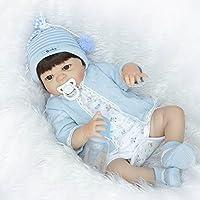 NPK collectionフルボディ少年SiliconeビニールRebornベビー人形22インチ55 cm for Childrenギフト入力でき水ベビーAlive