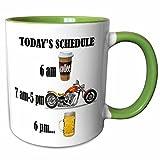Best ベストセラーのコーヒーテーブル - 3drose 220705 7コーヒービール。Funny Motorcycles Sayingセラミックマグ、グリーン/ホワイト Review