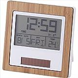バンブーデュアルパワークロック 【時計 おき型 置型 卓上 置時計 デジタル カレンダー アラーム 温度 竹 和風 ソーラー F7113-11】