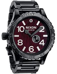 Nixon 51–30Tide Dark Wood /ブラック腕時計a057–1107