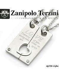 (合わせハート&メッセージ刻印 ダイヤモンド ペアネックレス) ネックレス ザニポロ タルツィーニ -Zanipolo Terzini-