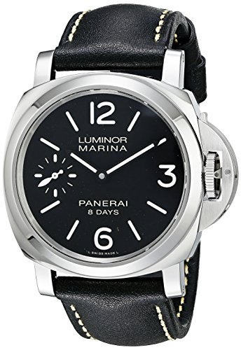Paneraiメンズpam00510Luminoxマリーナブラックダイヤルブラックレザー腕時計