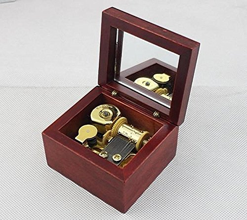 18 Note Windup Sankyo Wooden Music Box (Harry Potter Hedwig's)