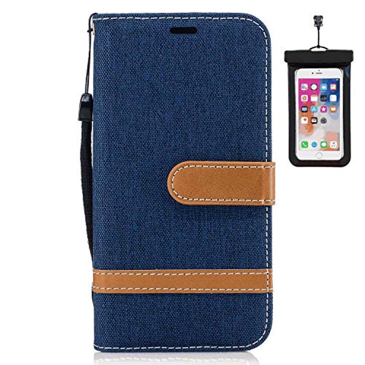 カウンタばかげたベルトiPhone 8 Plus プラス レザー ケース, 手帳型 アイフォン 8 Plus プラス 本革 耐摩擦 ビジネス スマートフォンカバー カバー収納 財布 無料付スマホ防水ポーチIPX8 Elegant