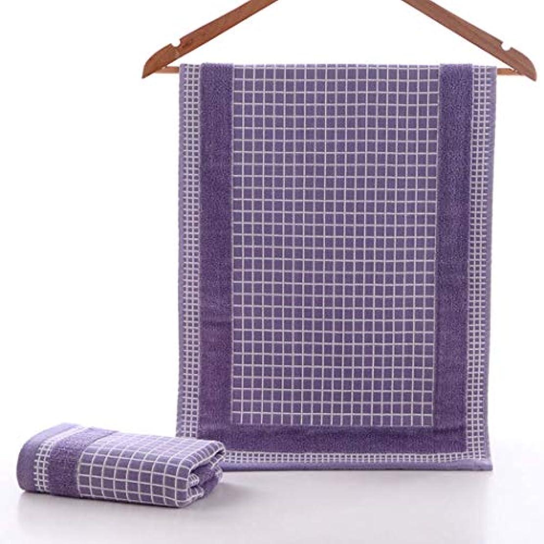 墓地繊維ポールスーパーソフトコットンタオルコットンフェイスタオル吸収性フェイスタオル,Purple,34*75