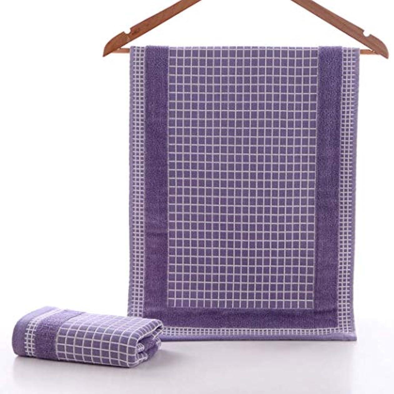 どっち尽きる個人的なスーパーソフトコットンタオルコットンフェイスタオル吸収性フェイスタオル,Purple,34*75