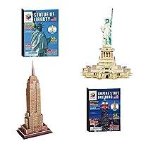 SEALEN 子供用 DIY 3D世界的に有名な 建物 パズル 3D モデル 開発 おもちゃ ジクソーパズル 子供用 大人用 2パック 自由の女神 + エンパイアステートビルディング