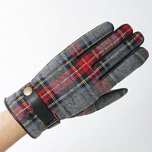 フレッドペリー(雑貨)(FRED PERRY) Tartan Leather Combi Gloves【30グレー/24】