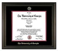 エンボスUGA卒業証書フレーム 19x21 ブラック