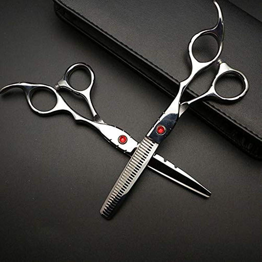 バー名目上の性交Goodsok-jp 6インチの美容師プロの理髪セットハイエンド理髪はさみ (色 : Silver)