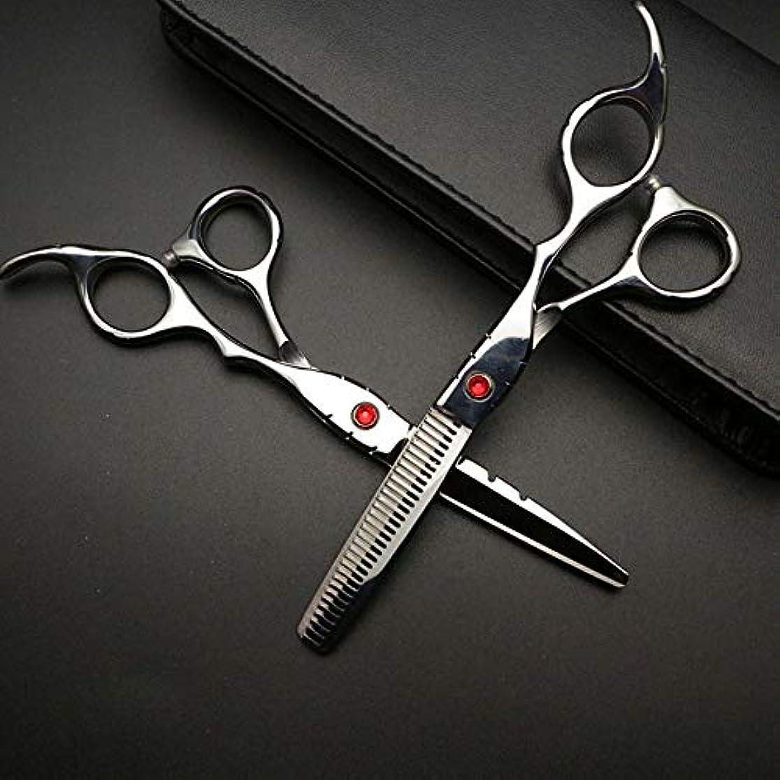 順応性のあるファンブルオンGoodsok-jp 6インチの美容師プロの理髪セットハイエンド理髪はさみ (色 : Silver)