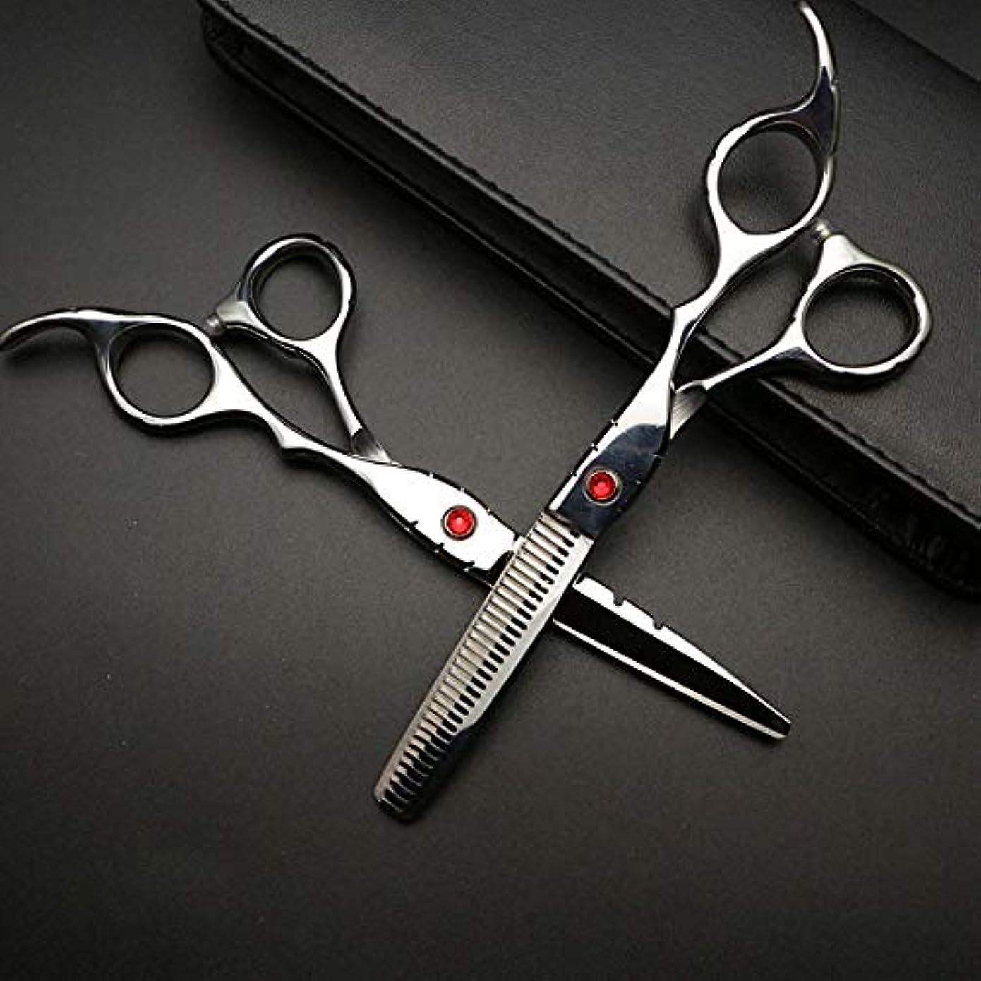 平行海洋のファントム6インチ美容院プロフェッショナル理髪セット、ハイエンド理髪はさみセット ヘアケア (色 : Silver)