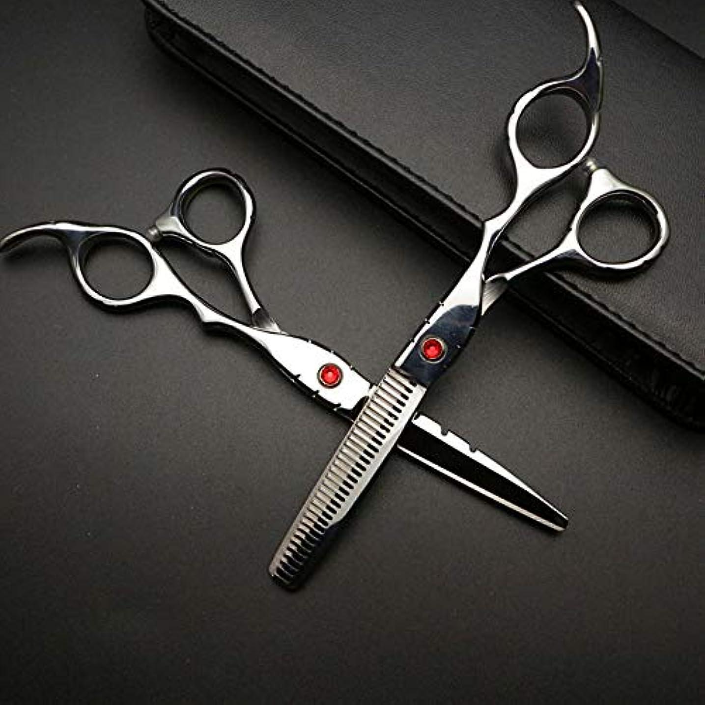 明確な雇った移植Goodsok-jp 6インチの美容師プロの理髪セットハイエンド理髪はさみ (色 : Silver)
