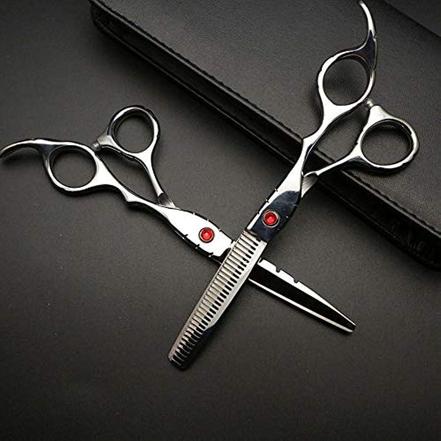 ドメイン信頼性ロードハウス6インチ美容院プロフェッショナル理髪セット、ハイエンド理髪はさみセット ヘアケア (色 : Silver)
