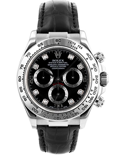 [ロレックス] ROLEX 腕時計 116519G Y番 コスモグラフデイトナ WG/レザー ブラック文字盤 8PD 自動巻き [中古品] [並行輸入品]