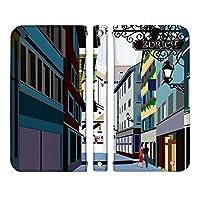 Galaxy S9+ SC-03K ケース [デザイン:1.ゆったり散歩小路/マグネットハンドなし] 世界の絶景 巻田喜昭 adbox 手帳型 スマホケース カバー ギャラクシー docomo ドコモ sc03k