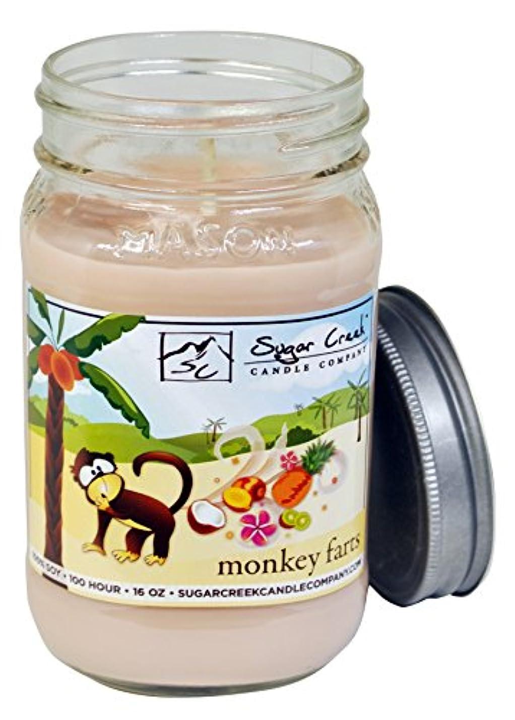 ラオス人おばあさん定説Sugar CreekキャンドルMonkey Farts ( Insaneトロピカルフルーツ) 100 % Soy Wax Candle。大豆キャンドルBurn Cleaner ~ Longer ~非毒性~元の100 %...