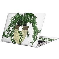 "MacBook Air 13inch 2018モデル / A1932 専用スキンシール マックブック エア Mac 13"" インチ Retina 専用シール フィルム ステッカー アクセサリー 保護 (2010年 ~ 2017年モデル 非対応) 009713 植物 シンプル 緑"
