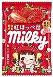 不二家 ミルキー(静岡県産紅ほっぺ苺) 袋 80g ×6個